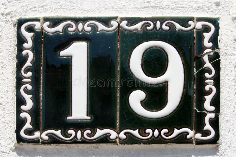 Rue espagnole numéro 19 photos stock