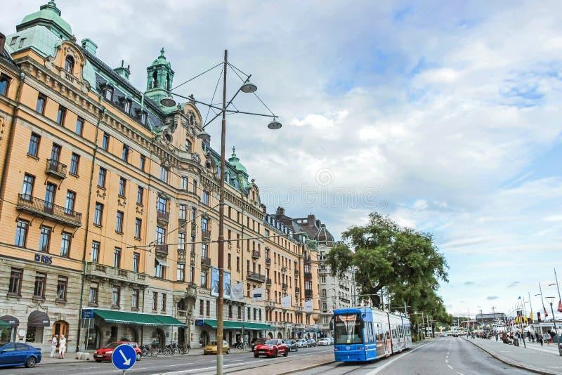 Rue et bâtiments à Stockholm image stock