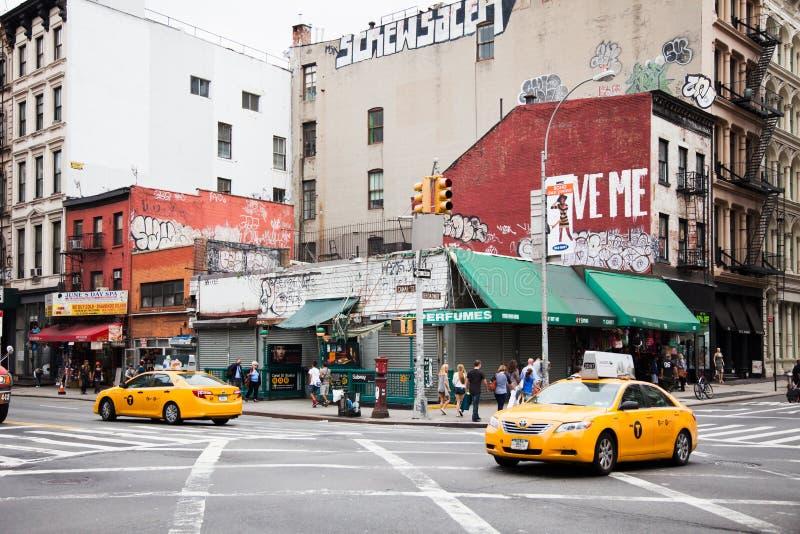 Rue et Broadway de canal à New York photographie stock libre de droits
