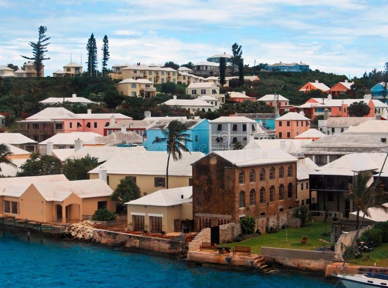 rue gauche des Bermudes Georges image stock