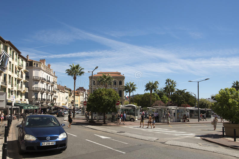 Rue Georges Clemenceau, Cannes, France images stock