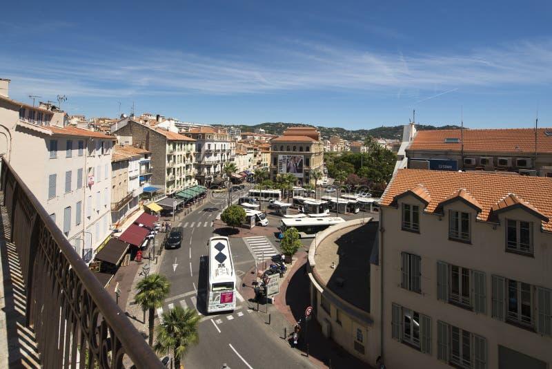 Rue Georges Clemenceau, Cannes, France photo libre de droits