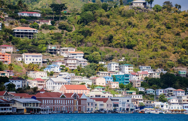 Rue Georges, Grenada photographie stock