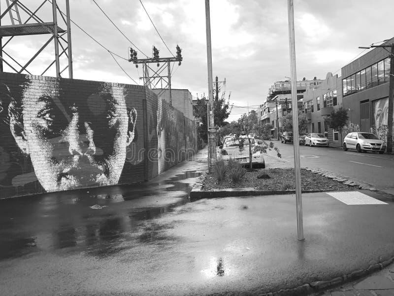 Rue grunge d'Australie de Melbourne de graffiti image stock