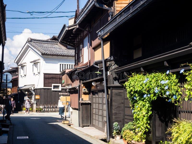 Rue historique dans Takayama, Japon photographie stock