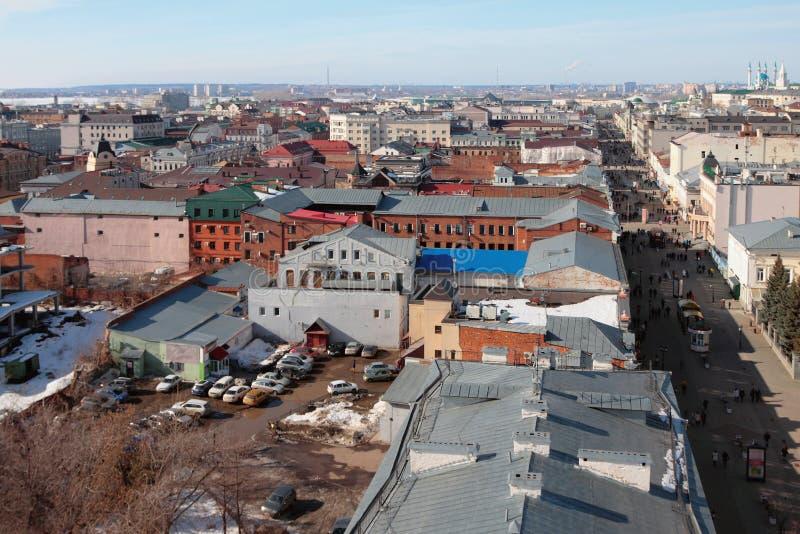 Rue historique de centre et de piéton Kazan, Russie images stock