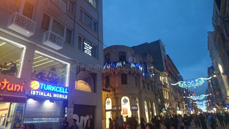 Rue Istanbul d'Istklal image libre de droits