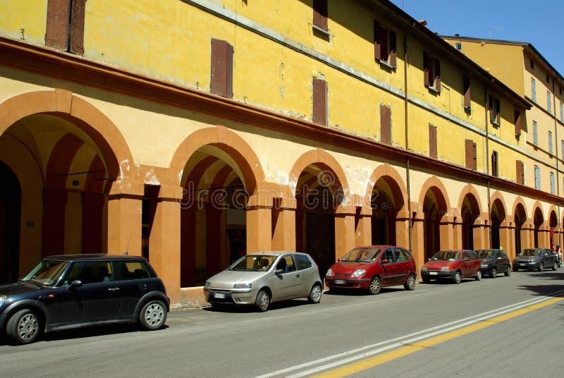 Rue italienne, Bologna, Italie images libres de droits