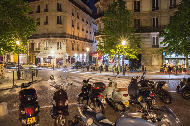 Rue Jean du Bellay arkivfoto