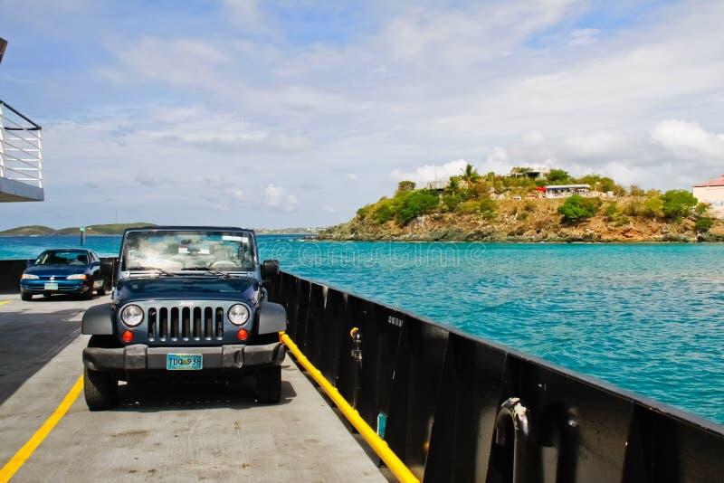 Rue John, USVI - car-ferry dans le compartiment de Cruz photos libres de droits