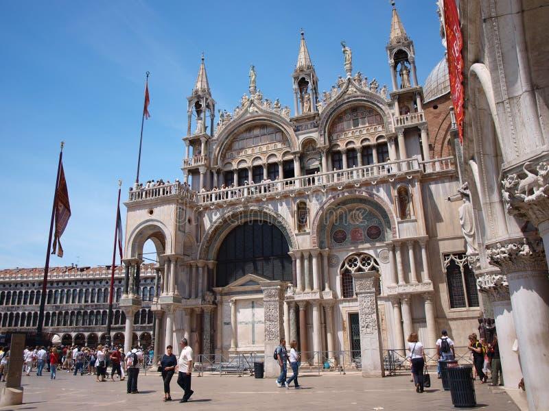 Rue La basilique du repère, Venise, Italie photographie stock libre de droits