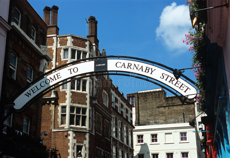 Rue Londres de Carnababy. images stock