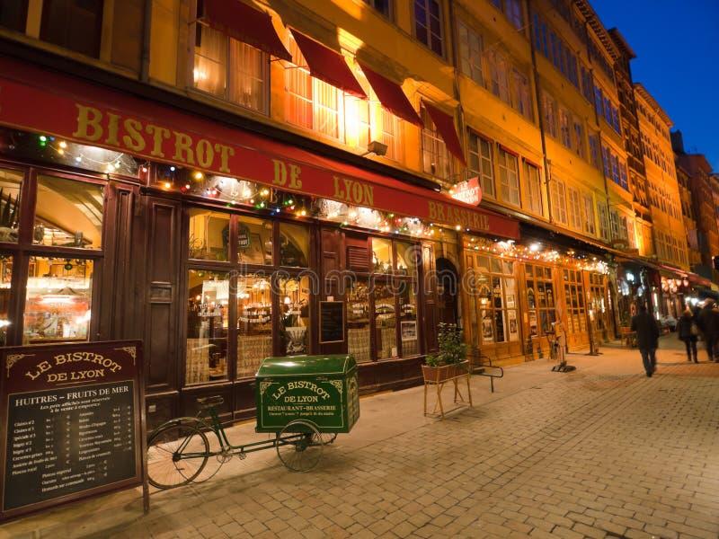 Rue Merciere, Lyon, Frankreich stockbild