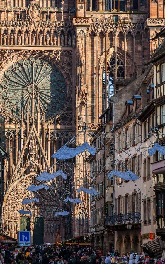 Rue Merciere In Straßburg Redaktionelles Stockfoto