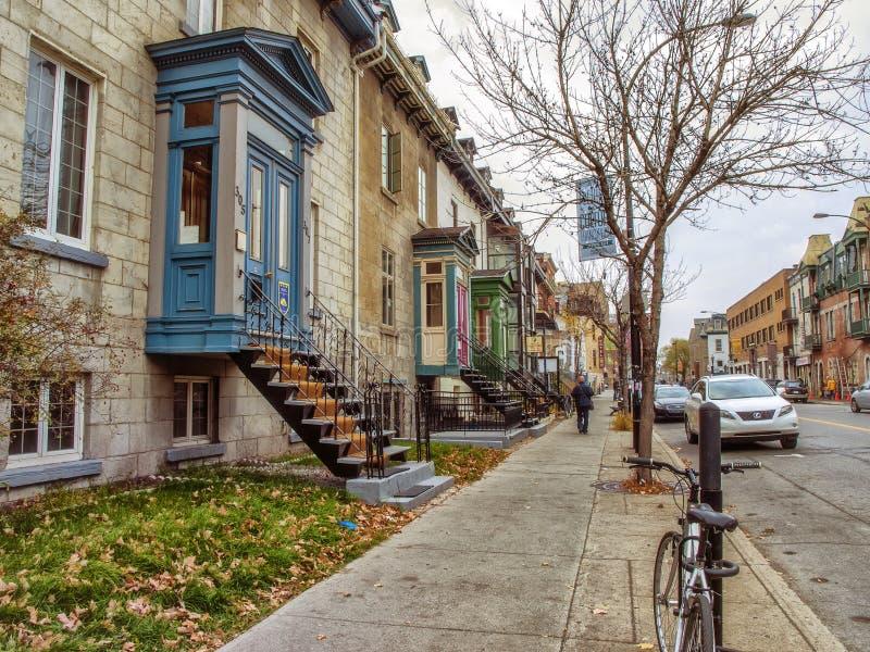 Rue Montréal d'Ontario image libre de droits