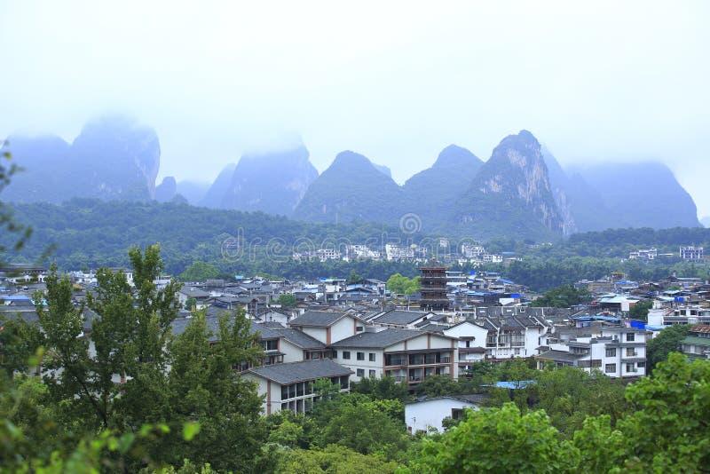 Rue occidentale de Yangshuo images stock