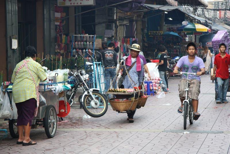 Rue passante de Bangkok photos stock