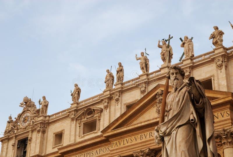 Rue Paul et les apôtres, Vatican, Rome, Italie photographie stock libre de droits