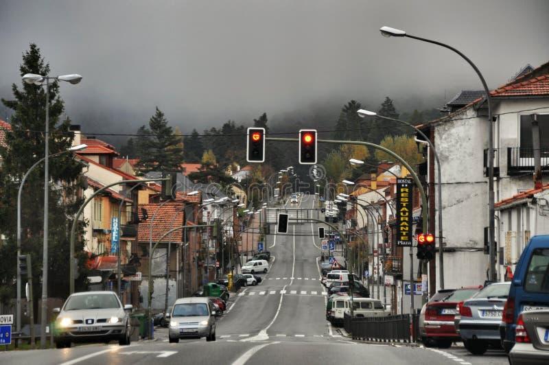Rue principale à San Rafael de l'Espagne photographie stock
