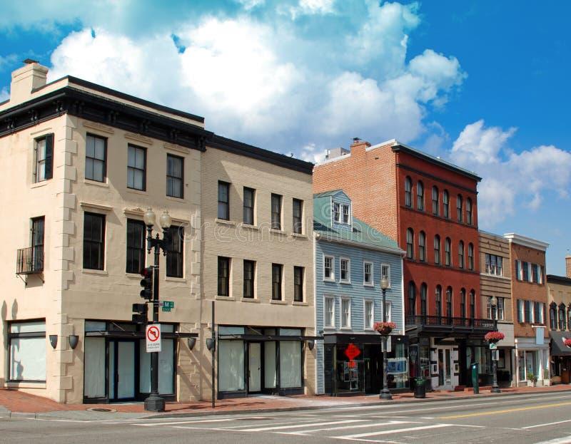 Rue principale 4 de petite ville photographie stock libre de droits