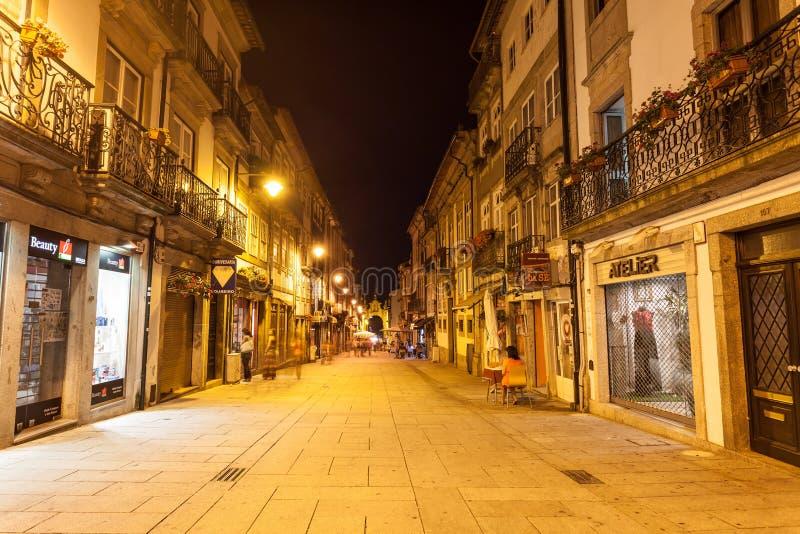 Rue principale, Braga images stock