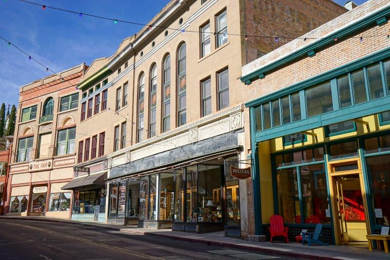 Rue principale de Bisbee Arizona photographie stock libre de droits