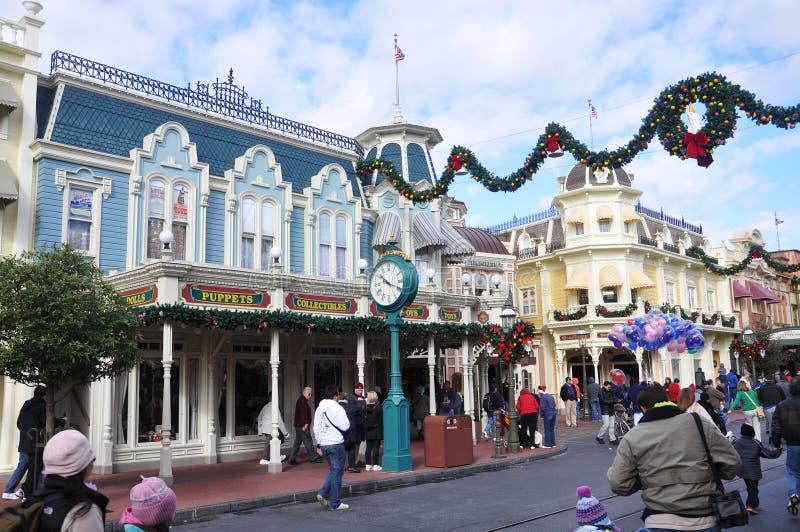 Rue principale de monde de Walt Disney image stock