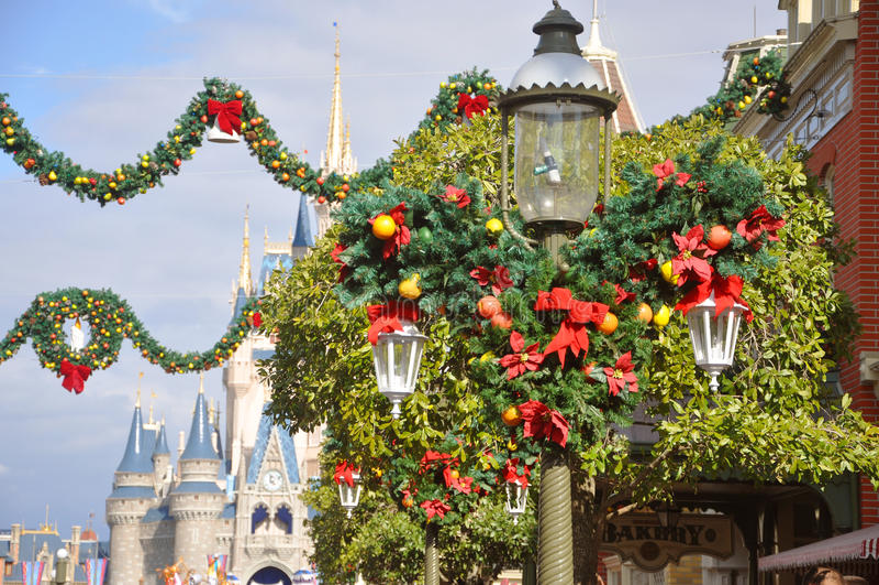 Rue principale de monde de Walt Disney images stock