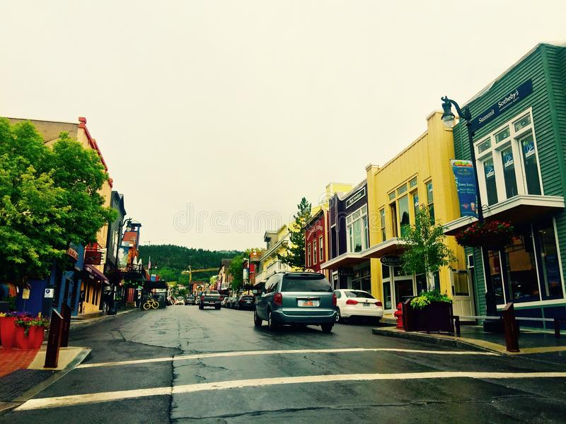 Rue principale Park City, Utah photographie stock libre de droits