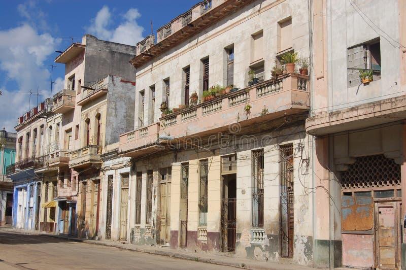 Rue résidentielle, La Havane photos stock