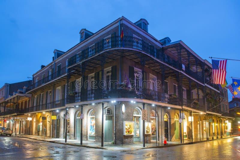 Rue royale dans le quartier français, la Nouvelle-Orléans photographie stock libre de droits