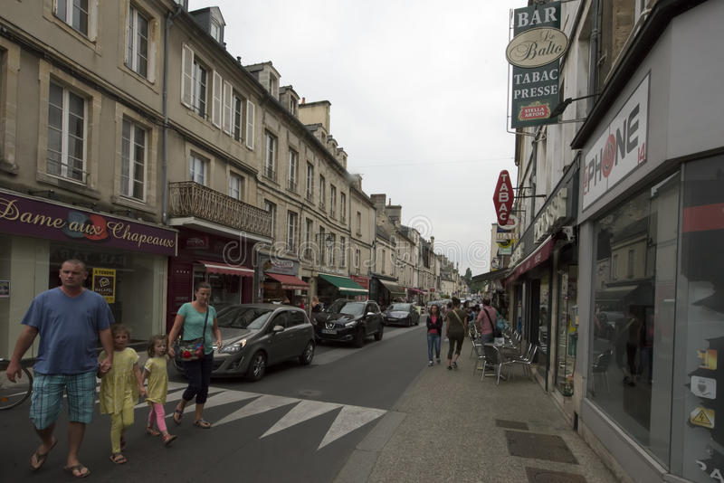 Rue Saint-Martin a Bayeux, Francia immagine stock