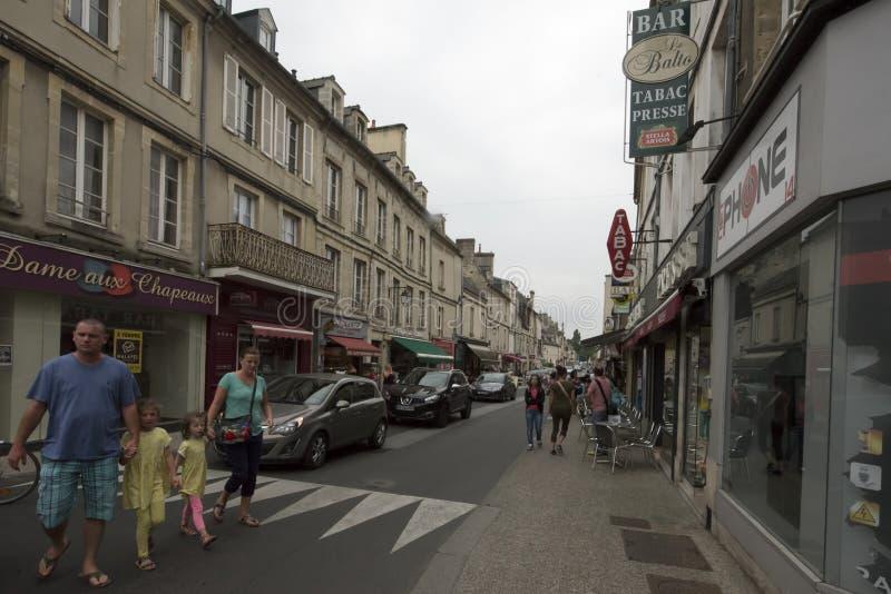 Rue Saint-Martin em Bayeux, França imagem de stock