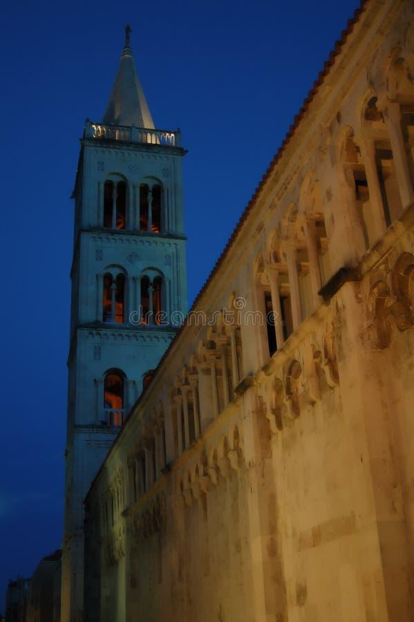 Rue Stosija dans Zadar image libre de droits