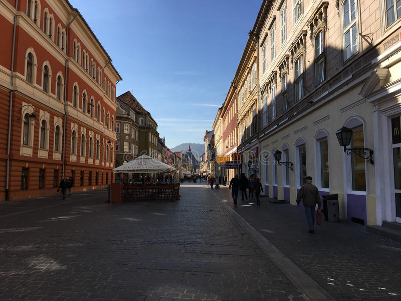 Rue Strada Republicii photographie stock