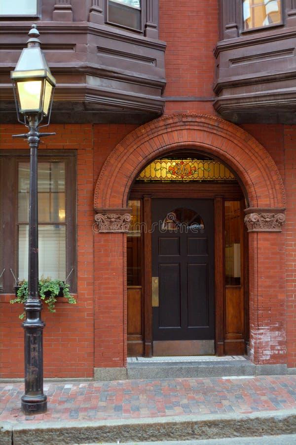 Rue Sur La Côte De Radiophare De Boston Photo stock