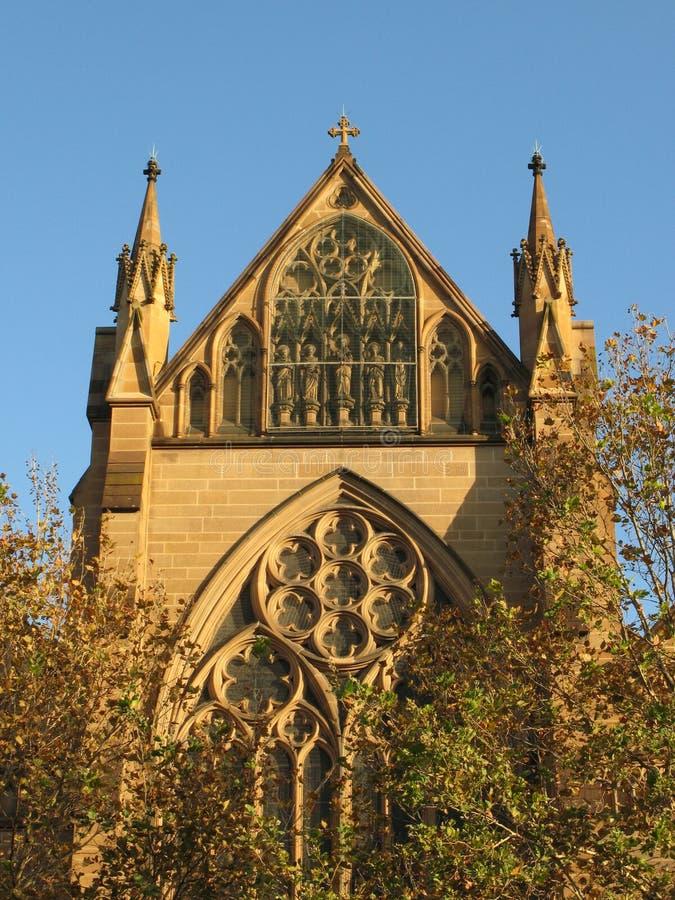 rue Sydney de Mary s de cathédrale de l'australie photographie stock libre de droits