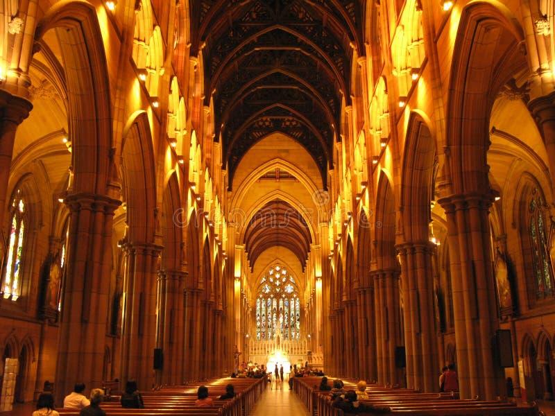 rue Sydney de Mary s de cathédrale de l'australie image libre de droits