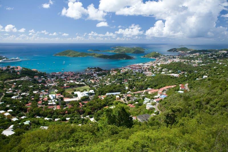Rue Thomas, USVI. Charlotte Amalie. photo stock