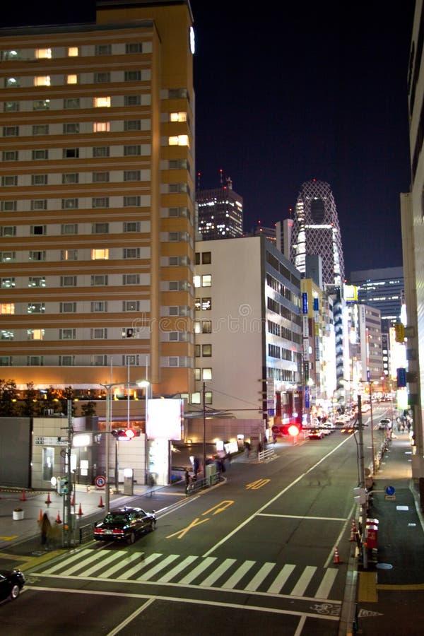rue Tokyo de nuit de ville photographie stock