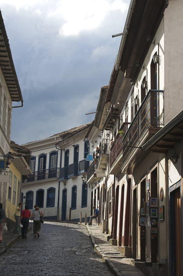 Download Rue tranquille, Ouro Preto photo stock. Image du tranquillité - 742994