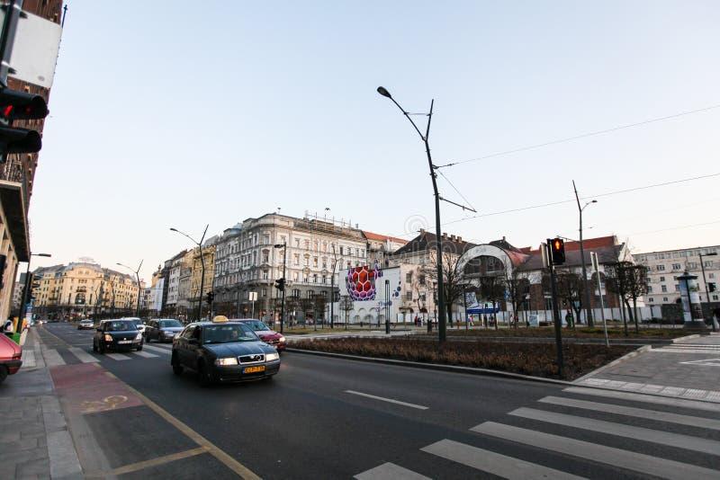 Rue typique à Budapest image stock