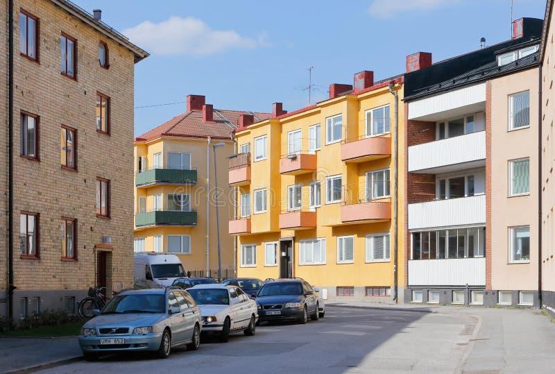 Rue urbaine résidentielle photos stock
