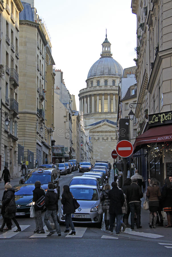 Rue Valette Leading To The Pantheon In Paris Editorial Image ...