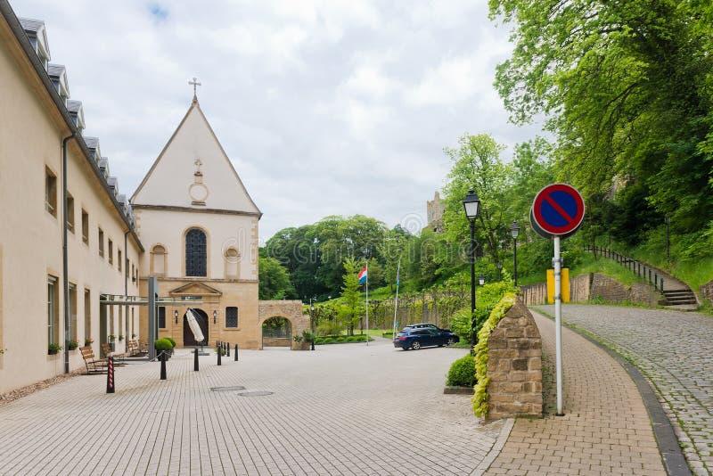 Rue vide au Luxembourg photographie stock libre de droits