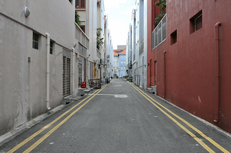 Rue vide de centre urbain image stock