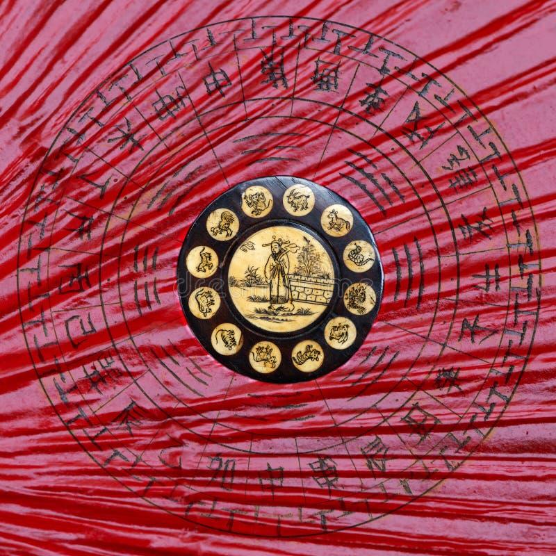 Rueda china del zodiaco imagen de archivo