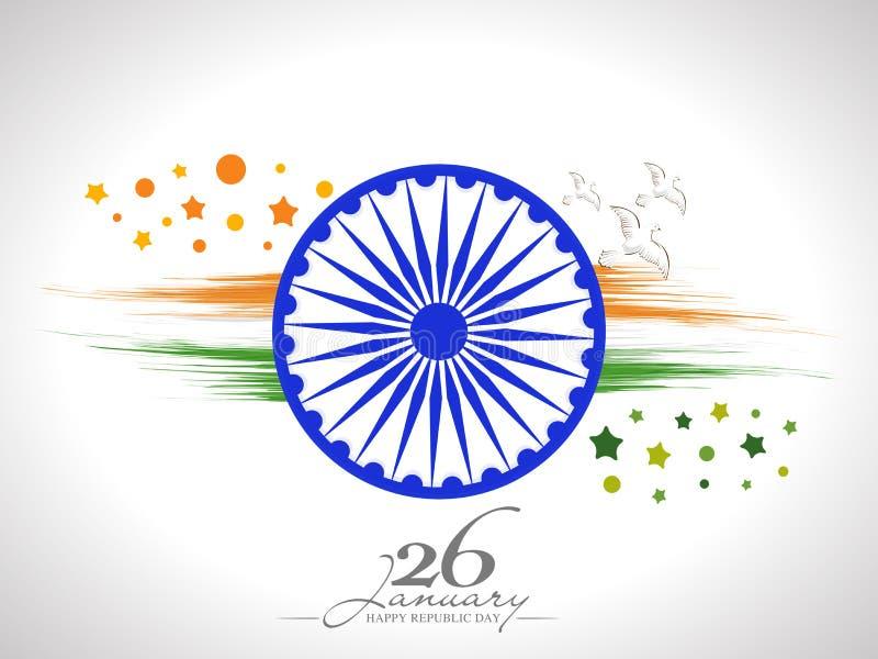 Rueda De Ashoka Con Las Palomas Para La Celebración India Del Día De ...