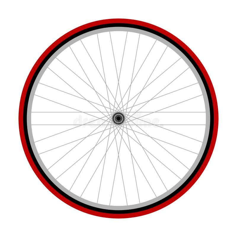 Rueda de bicicleta stock de ilustración