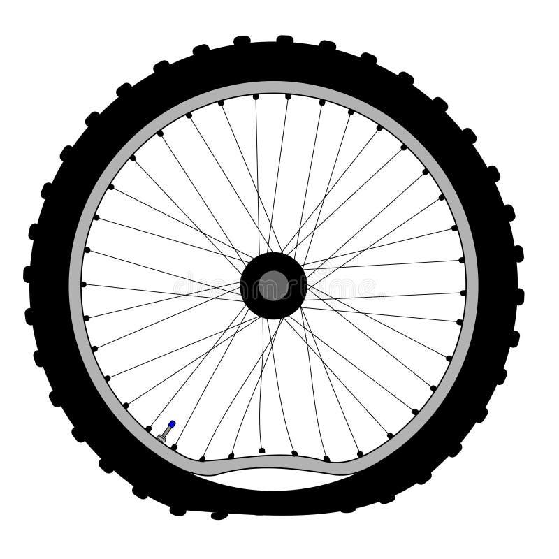 Rueda de bicicleta abrochada ilustración del vector